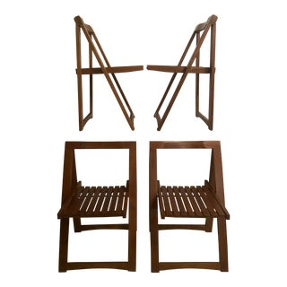 Mid-Century Aldo Jacober Folding Chairs - Set of 4 For Sale