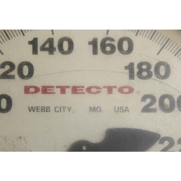 Vintage White Metal Detecto Scale - Image 5 of 10