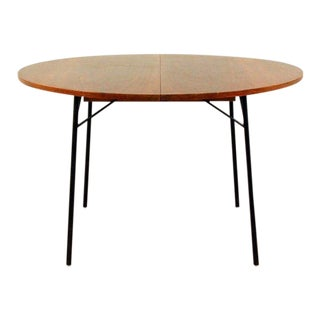 1950s French Alain Richard Extendable Rosewood Dining Table For Sale