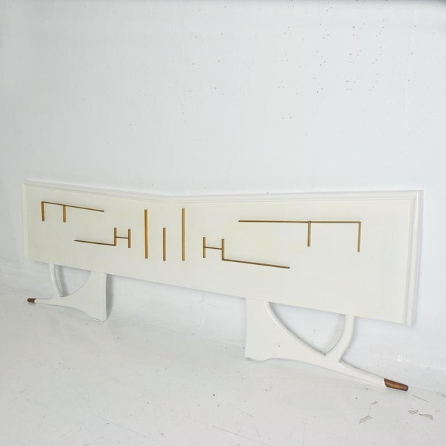 Mid-Century Modern Mid Century Mexican Modernist King Size Headboard For Sale - Image 3 of 10