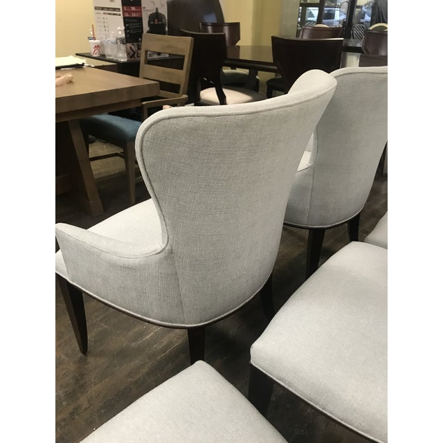 Mid-Century Modern Henredon Furniture Barbara Barry Bowmont Light Blue Dining Chairs- 6 Pieces For Sale - Image 3 of 11