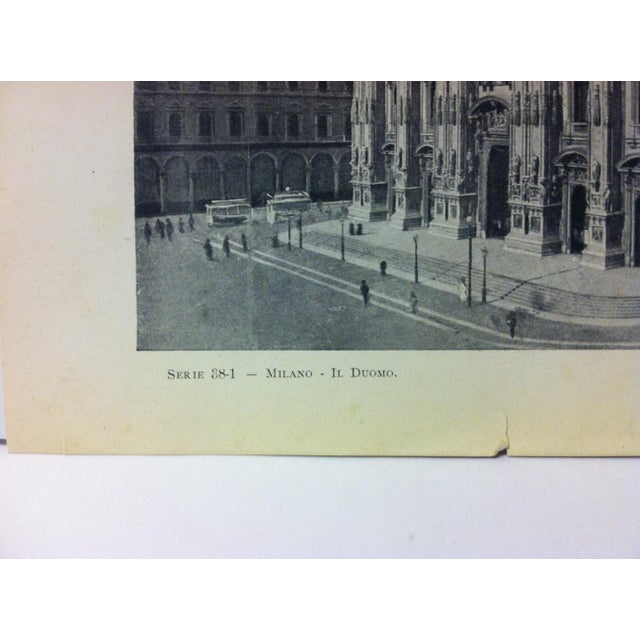 """Realism Circa 1930 """"In Duomo"""" Print of Milano Italy For Sale - Image 3 of 4"""