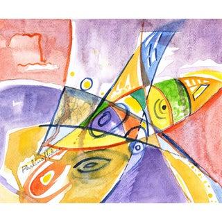 Paulino Medina Sosa, Abstract Watercolor Painting For Sale