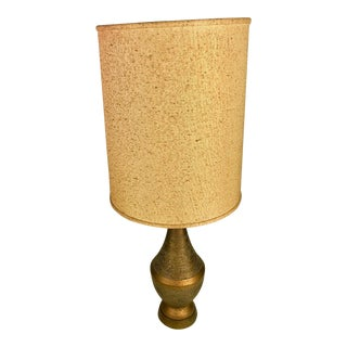 Vintage Mid-Century Modern Faip Bronze Chalkware Table Lamp Retro Light For Sale