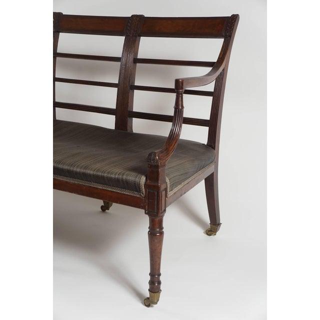 Mahogany Settee, England, Circa 1795 For Sale - Image 4 of 10