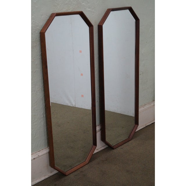 George Nelson for Herman Miller Walnut Frame Wall Mirrors - Pair - Image 7 of 10