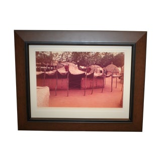 1975 Portrait of African Houses Photograph by Carol Beckwith, Framed For Sale