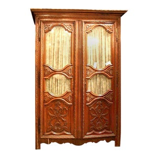 18th Century Louis Xiv Carved Armoire For Sale