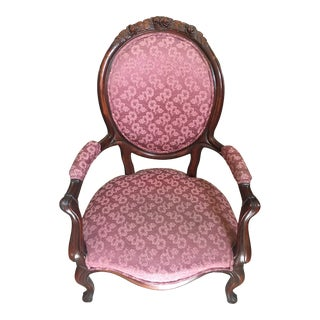 Late 18th Century Antique French Louis XVI Style Upholstered Armchair For Sale