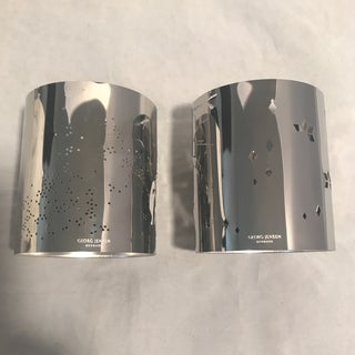 Georg Jensen Boxed Set Stainless Steel Holiday Tea Light Holders - a Pair Preview