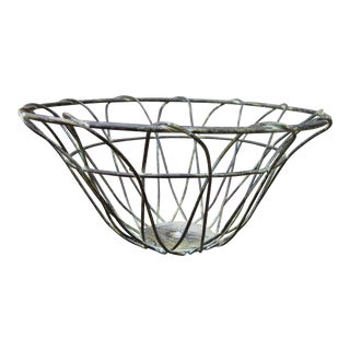 1990s Wire Fruit Bowl For Sale