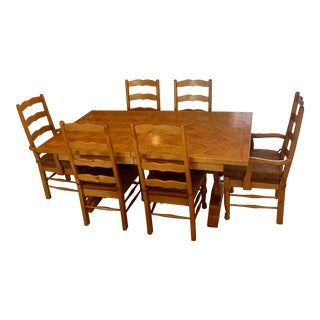 Farmhouse Dining Room Table and Chairs For Sale