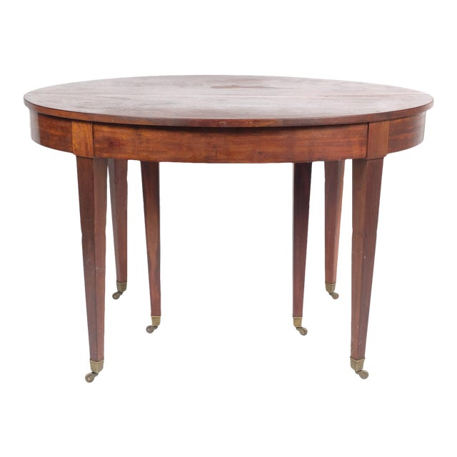 French Louis XVI Style Oval Mahogany Center Table For Sale