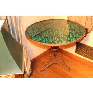 20th Century Regency Faux Painted Malachite Table Preview
