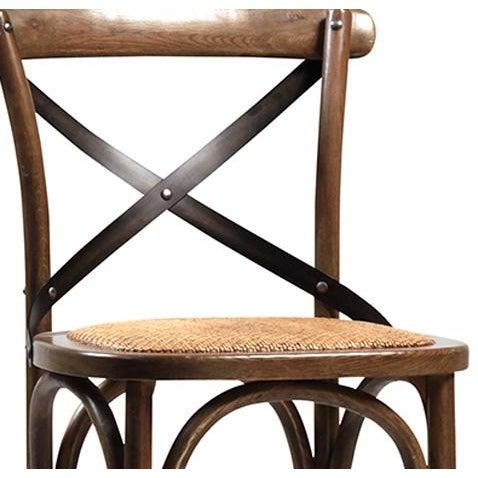 Rattan Seat Oak Bar Stool - Image 2 of 2