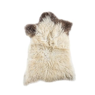 "Contemporary Hand-Tanned Sheepskin Pelt - 2'2""x3'2"""