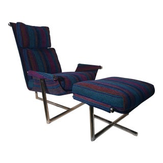 Mid Century Modern Jules Heumann Lounge Chair and Ottoman For Sale