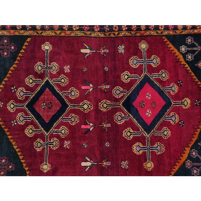 "Vintage Persian Lori Rug - 4'6"" x 6'4"" - Image 2 of 3"