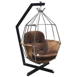 Ib Arberg Parrot Cage Swing Chair For Sale