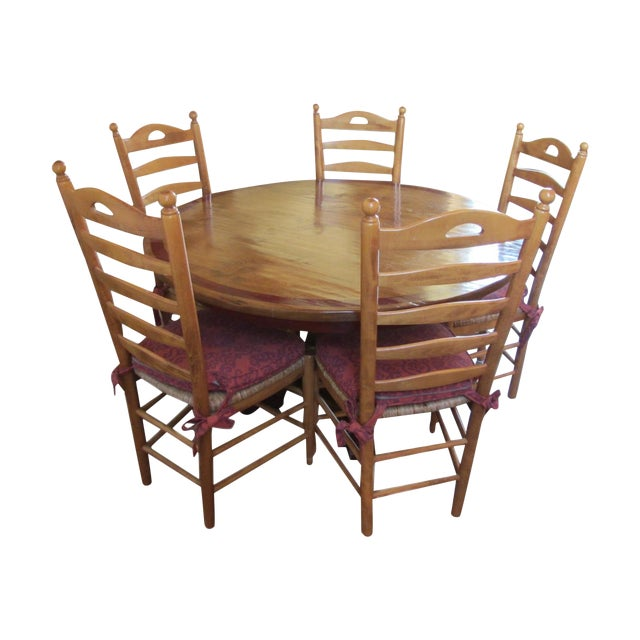Round Farmhouse Dining Set - Image 1 of 11