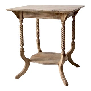 Antique Wooden Parlor Table For Sale