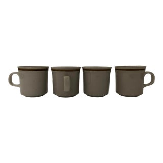 Vintage Old Brook Collection Stoneware Mugs S/4 For Sale