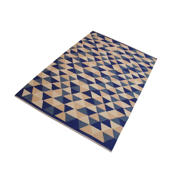 """""""Add a touch of elegance to your home with this casual chic hand woven Tribal Kilim Hand-Woven Wool Rug. Constructed on a..."""
