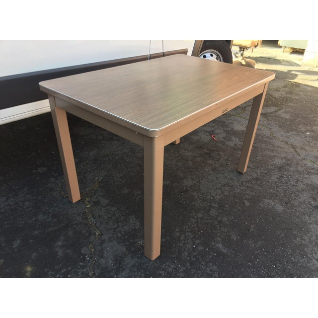 Art Deco 1960s Industrial McDowell and Craig Metal Writing Desk For Sale - Image 3 of 10