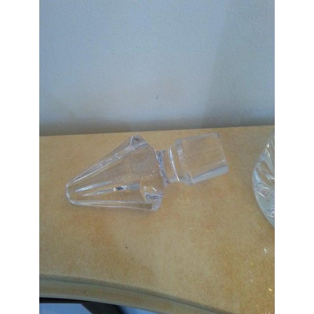 Transparent Vintage Slender Cut Lead Crystal Decanter For Sale - Image 8 of 11