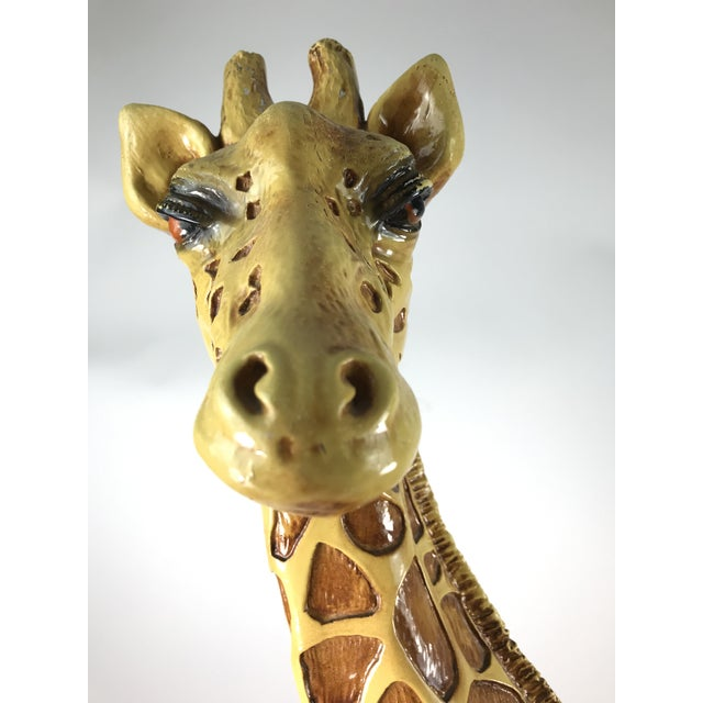 1970s Vintage Marwal Chalkware Giraffe Sculpture For Sale - Image 12 of 13