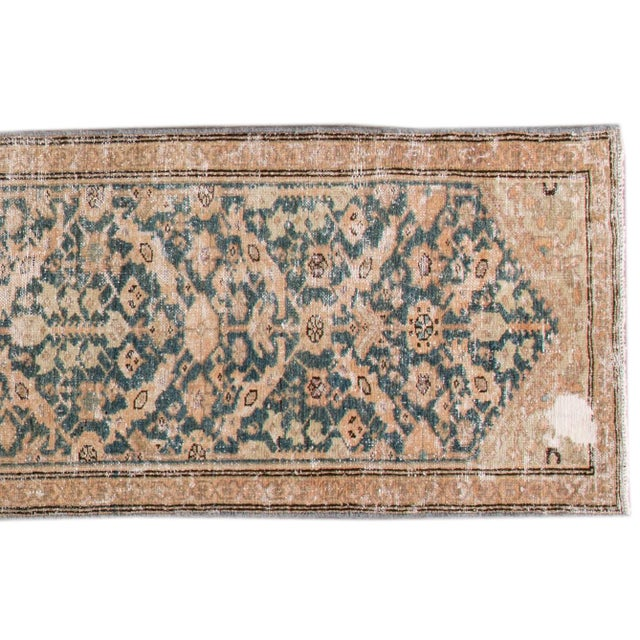 "1910s Apadana-Antique Persian Distressed Rug, 2'4"" X 15'10"" For Sale - Image 5 of 10"