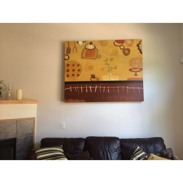 Abstract Large Original Abstract Painting by Anna Choi For Sale - Image 3 of 3