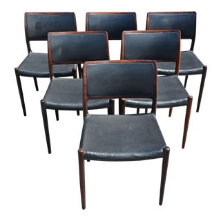Niels Moller forJ.L Moller Rosewood Danish Dining Chairs - Set of 6