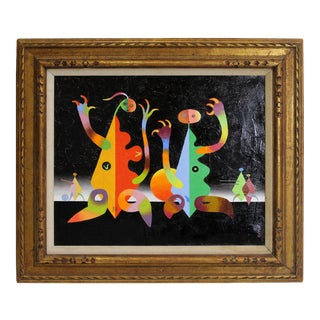 Modern Surrealist Painting by Seymour Zayon For Sale