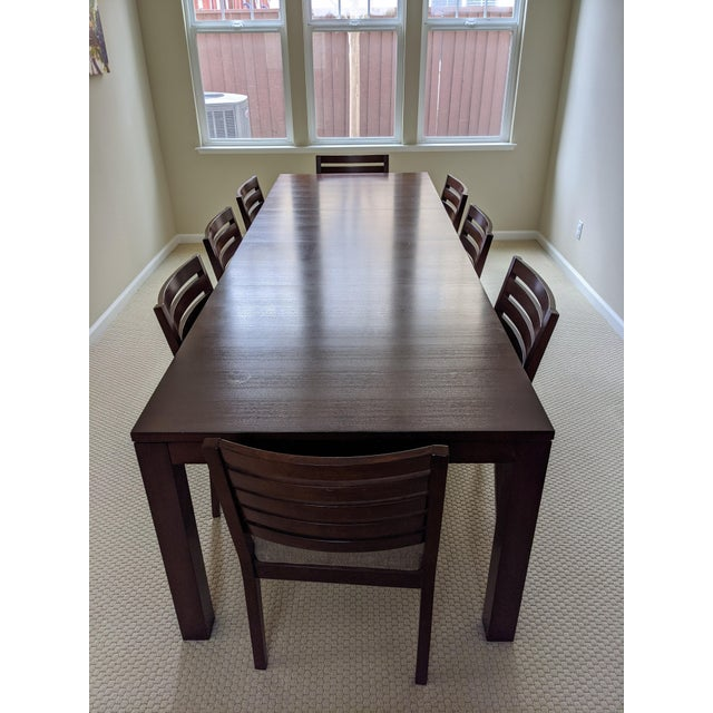 Wood Ethan Allen Midtown Dining Table Set For Sale - Image 7 of 7