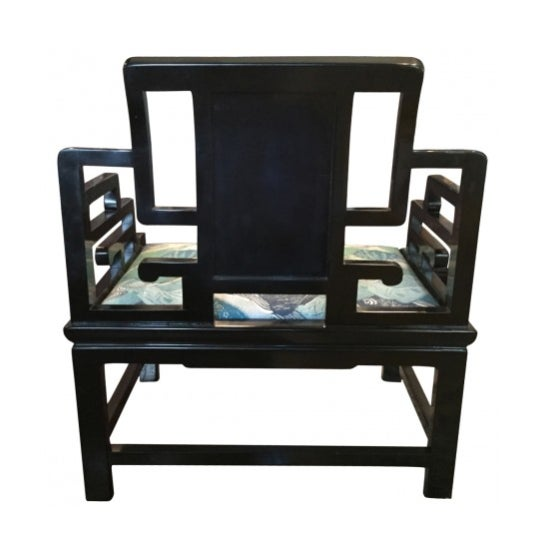 Asian Asian Inspired Extra-Wide Chair For Sale - Image 3 of 4