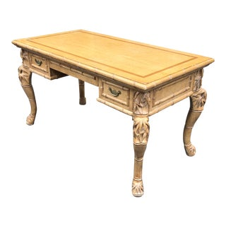 Charles Pollock for William Switzer Chinese Chippendale Writing Table Desk For Sale