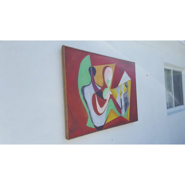 1977 Intermezzo Abstract Painting By Chester T. Kuziora - Image 3 of 11