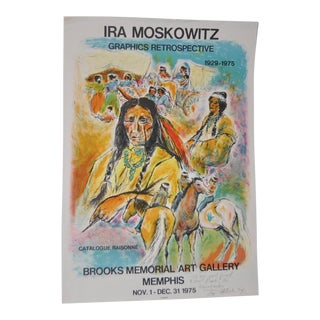 1975 Vintage Ira Moskowitz Exhibition Signed/Inscribed Poster