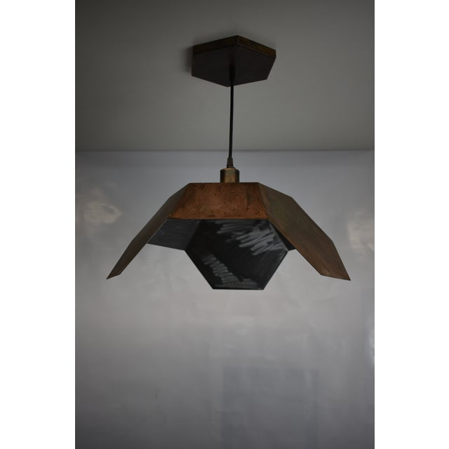 Metal Oblik Studio Ceiling Antic Steel Pendant Light For Sale - Image 7 of 7