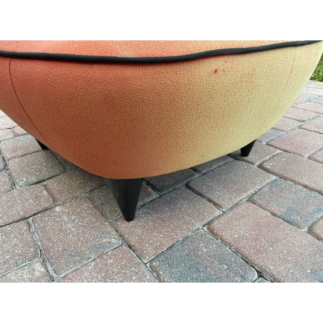Wood 1950s Cloud Sofa in the Style of Adrian Pearsall Peanut Shape - 2 Pieces For Sale - Image 7 of 12