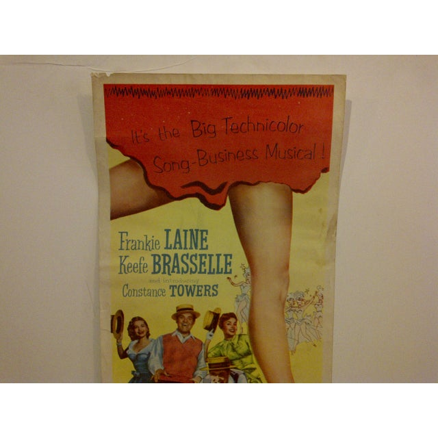 """Mid-Century Modern """"Bring Your Smile Along"""" Vintage Movie Poster For Sale - Image 3 of 5"""