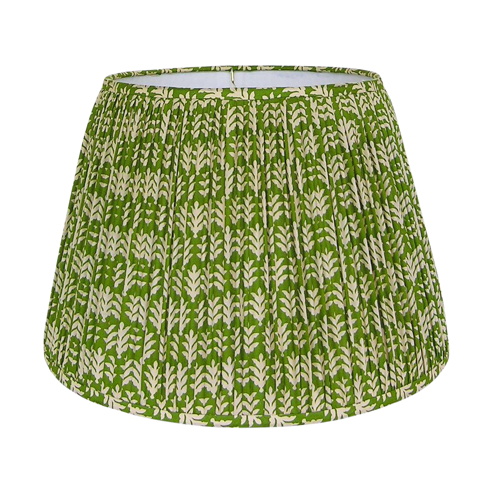 Green Gathered Lamp Shade