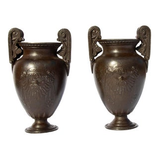 Grand Tour Classical Miniature Urns - a Pair For Sale