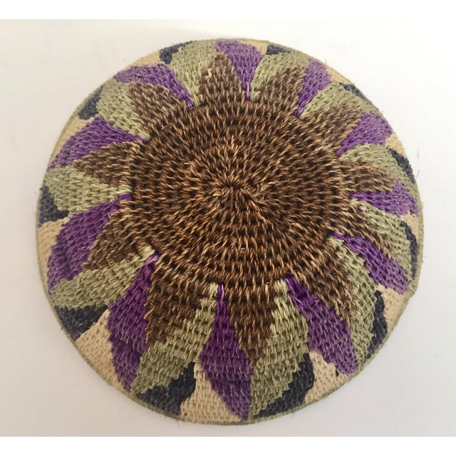 Native American Polychrome Seagrass and Silk Woven Basket For Sale - Image 10 of 12