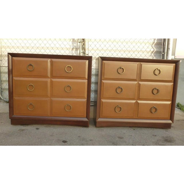 1950s Mid Century Modern Widdicomb t.h. Robsjohn Gibbings Matching Chest of Drawers - a Pair For Sale - Image 10 of 10