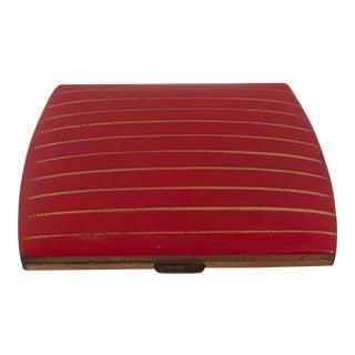 Vintage Red & Gold Cigarette Case