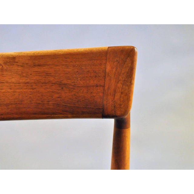 1960s Henry Rosengren Hansen Model 39 Teak & Leather Dining Chairs - Set of 4 For Sale In Madison - Image 6 of 9