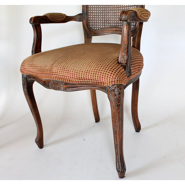 Red Caned Fauteuils, a Pair For Sale - Image 8 of 10
