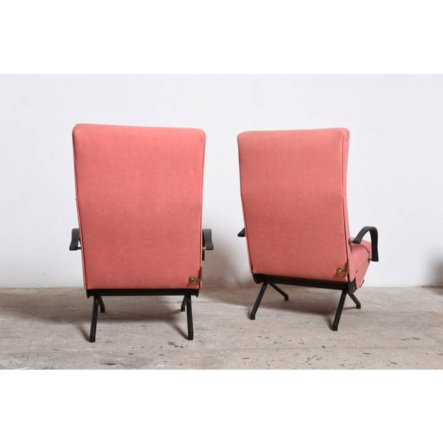 Pink Set Osvaldo Borsani, P40 Lounge Chairs for Tecno For Sale - Image 8 of 11